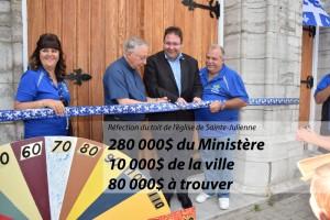 290 000$ pour l'église de Sainte-Julienne