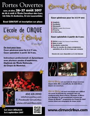 Porte ouverte et année bien spéciale pour Cirrus-Cirkus
