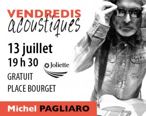 Michel Pagliaro en vedette sur la place Bourget