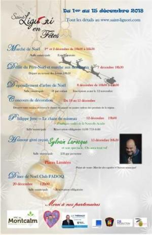 Plusieurs activités à Saint-Liguori pour le mois de décembre