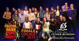 Secondaire en spectacle - Collège Esther-Blondin - Finale locale 2019