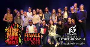 Secondaire en spectacle - Collège Esther-Blondin - Finale locale 2019