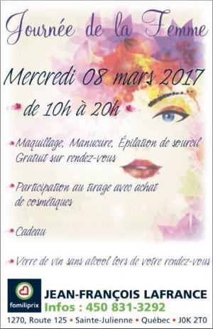 Promotion - Journée des Femmes - 8 mars