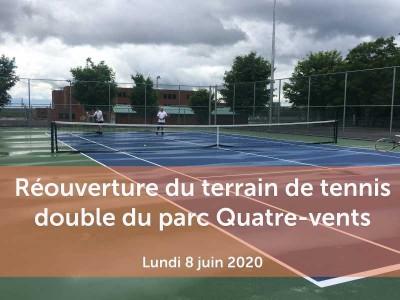 reouverture terrain de tennis