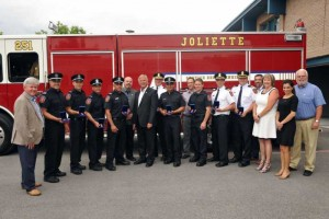 Médaille des pompiers pour services distingués:  10 pompiers de Joliette honorés