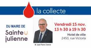 Collecte de sang du maire