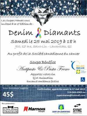 Invitation Diamants et Denim 2019 partenaires