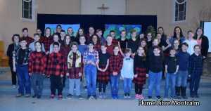 Veillée du Mi-Carême avec les élèves de Sainte-Marie-Salomé